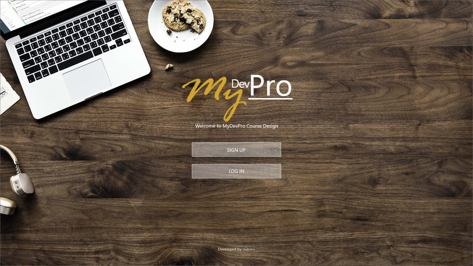 MyDevPro splash-screen mock-up